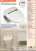 Coway BA07 electronic bidet toilet seat plumber's pamphlet with measuring guide
