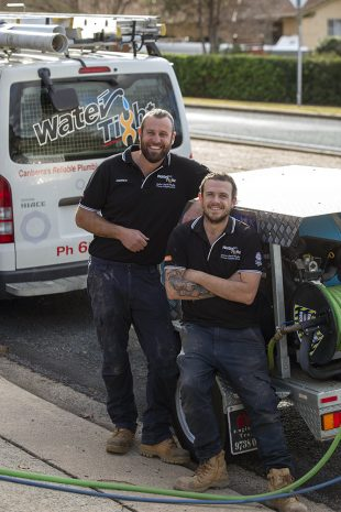 Canberra mature age apprentice with a plumber